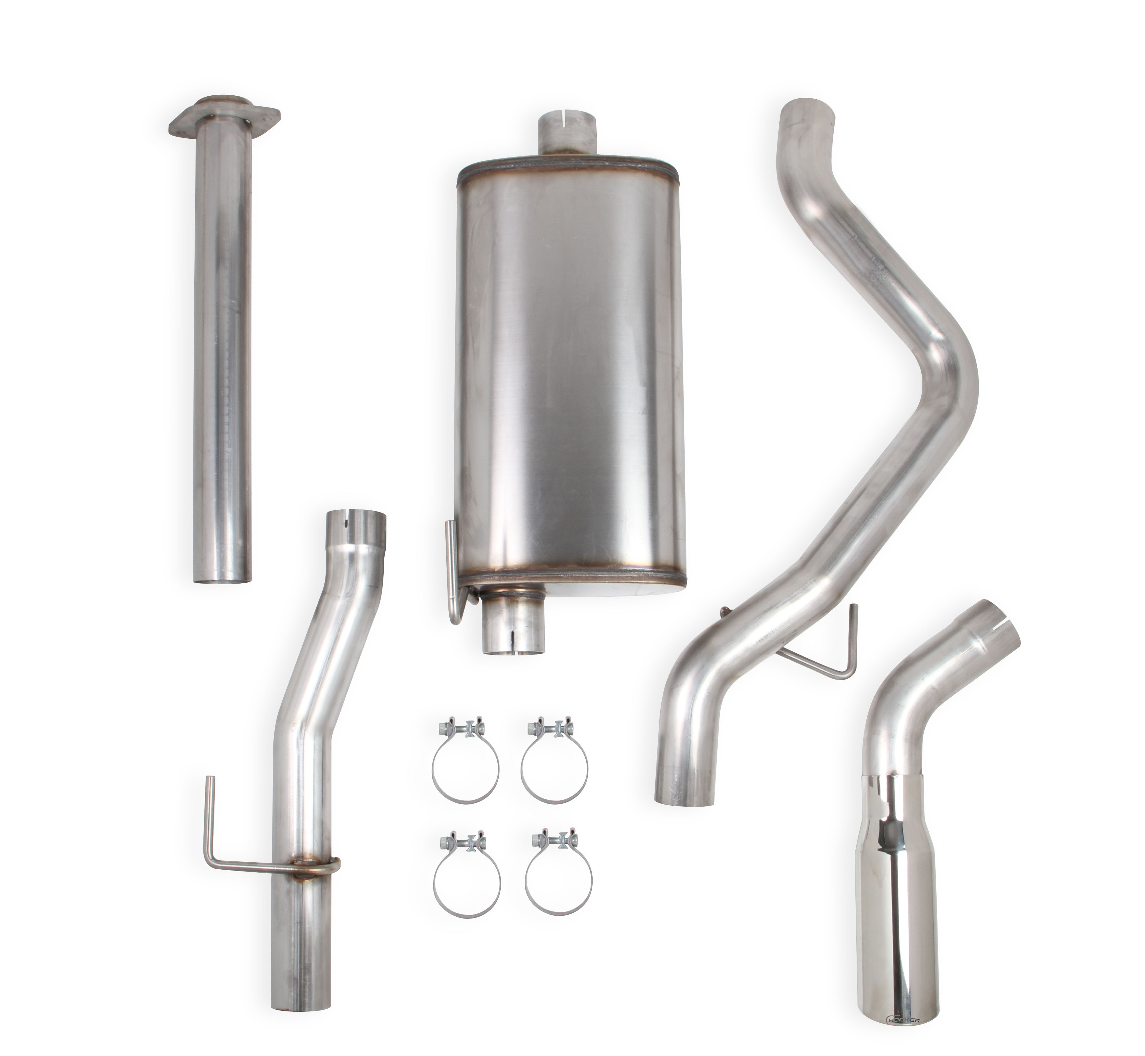 2009-2010 Ford F150 4.6/5.4L V8, Stainless Steel Cat-Back, Single Exit