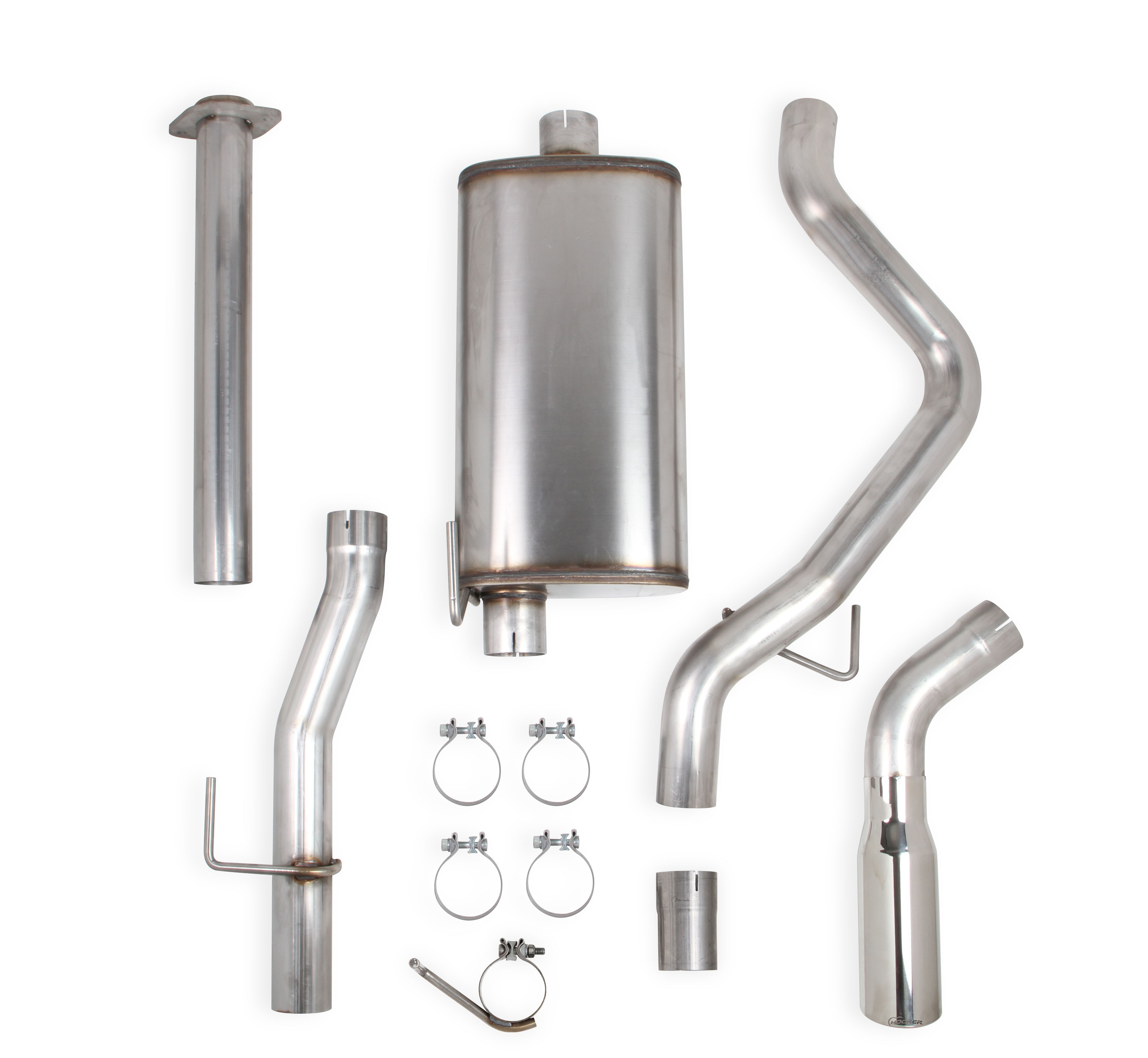 2015-2016 Ford F150 EcoBoost V6, 2.7/3.5L Stainless Steel Cat-Back- Single Exit