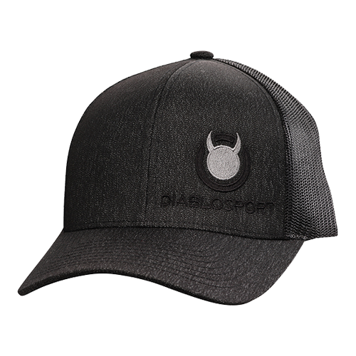 DiabloSport Black Adjustable Mesh Hat