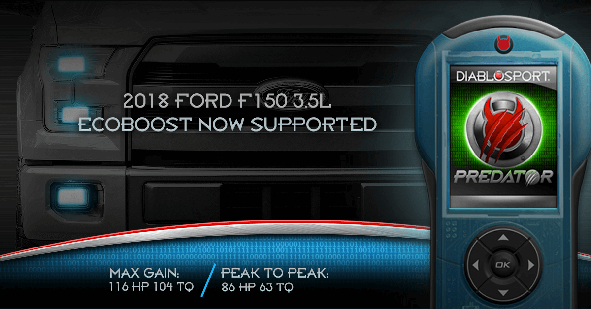 2018 Ford F150 3.5L Ecoboost Now Supported by Predator 2
