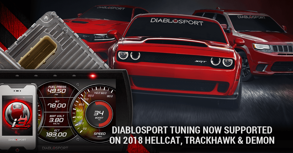 2018 Dodge Demon, Hellcat and Trackhawk Tuning Now Supported