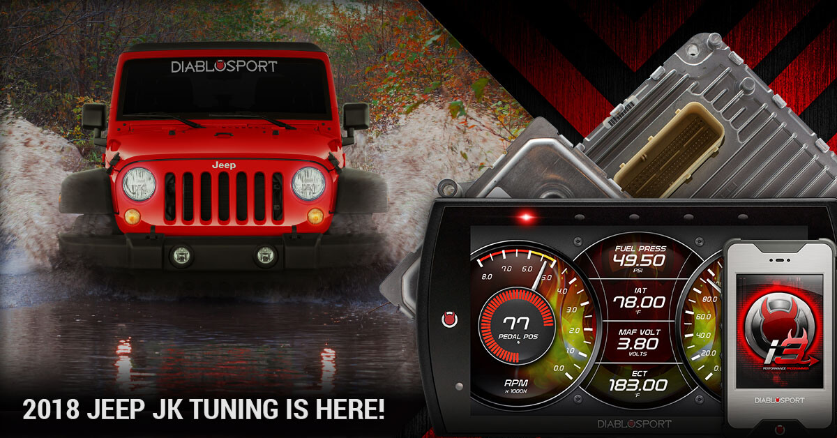 Jeep Wrangler Sport For Sale >> 2018 Jeep Wrangler JK Tuning Now Supported on DiabloSport